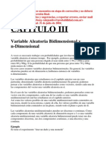 Variable Aleatoria Bidimensional y N-dimensional