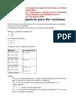 10.7 - Prueba de Diferencia de Varianzas