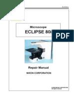 Nikon 80i service manual