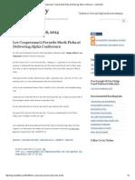 Lee Cooperman's Favorite Stock Picks at Delivering Alpha Conference ~ market folly