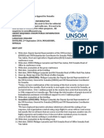 UN Humanitarian Appeal for Somalia