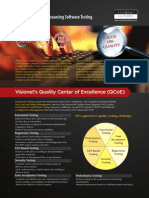 Visionet's Quality Center of Excellence (QCoE) - Best Practices for Outsourcing Software Testing
