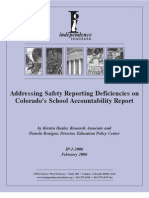 Addressing Safety Reporting Deficiencies on Colorado's School Accountability Report