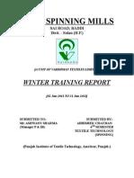 Training Report AT VARDHMAN of Abhishek.doc