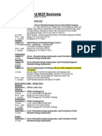 Schedule of MCIP-Southland Bootcamp - September 2014