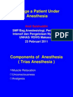 Manage a Patient Under Anesthesia