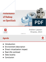 Performance of Hadoop on OpenStack