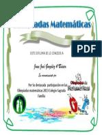 Diploma Olimpiadas Matematicas Juan Jose Gonzalez