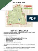 La cartina 2014 di Nottissima del 13 settembre a Empoli