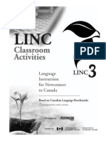 LINC 3 Classroom Activities