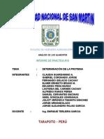 Informe 6 - Det. Proteina1