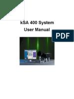KSA 400 Manual
