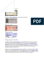 Cheques Information
