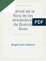 Manual de La Flora de Los Alrededores de Buenos Aires