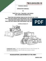 Caterpillar Model d7f Operators Manual
