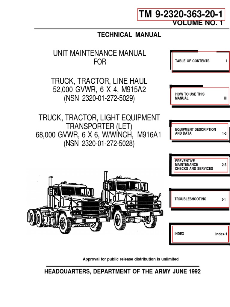 Freightliner With a DDECII&III 1000 Pages TM-9-2320-363!20!1 ... on