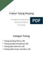 Fraktur Tulang Panjang