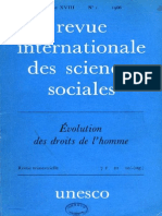 La Revue Internationale Des Sciences Sociales%Droits Del'Homme