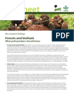 Key research findings Forests and biofuels