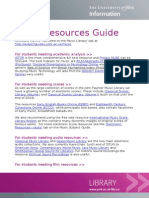 Music Resources Guide
