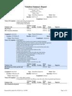 VoB_FOIL_Violation Summary Report_ 080514 1 of 2