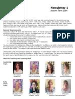 Autumn Term 2014 Newsletter 1