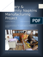 Sanitary Napkins Manufacturing Project