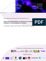 Actue Eletrophysiologic Consequences of Pyridostigmine Inhibition of Cholinesterase in Humans