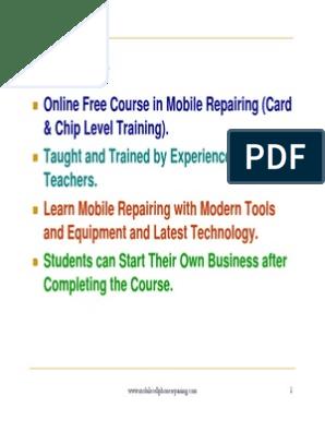 Mobile Phone Repairing PDF (2)   Telephone   Electric Current