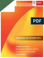Programa Formacion Ciudadana Michoacan
