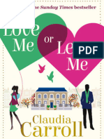 Love Me or Leave Me, Claudia Carroll - EXTRACT