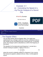 Doppler Effect - Calculating the Speed of A