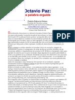 Octavio Paz, La Palabra Erguida