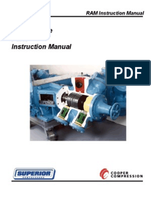 RAM Instruction Manual | Cylinder (Engine) | Piston