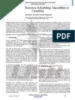 Priority Based Resource Scheduling Algorithhm in  CloudSim