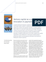 Venture Capital as a Path to Innovation in Payments