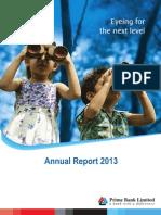 prime bank Annual Report 2013