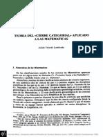 El cierre categorial aplicado a las matemáticas.pdf