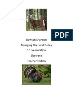 deer and turkey presentationteacher edition
