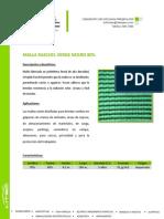 Malla Raschel Verde Negra 80