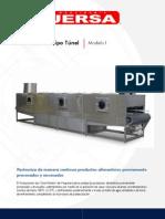 Pasteurizador Tipo Tunel Mod I
