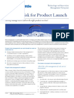 Manage Risk for Product Launch