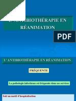 Antibiothérapie en Réanimation Presentation 2011