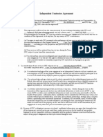 Coke Zero Internship - Independent Contractor Agreement