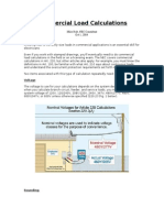 Commercial Load Electrical Calculations
