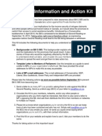 BillC 585 InformationandActionKit Aug2014revised