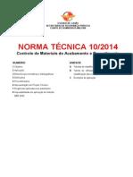 NT 10_2014_Controle de Materiais de Acabamento e Revestimento