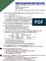 Adverbs & verb word order