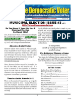 #10 Municipal Election Issue