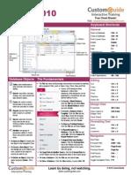Access 2010 Cheat Sheet